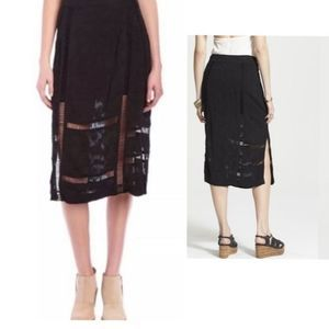 FREE PEOPLE Love Will Save You Jacquard Skirt 8